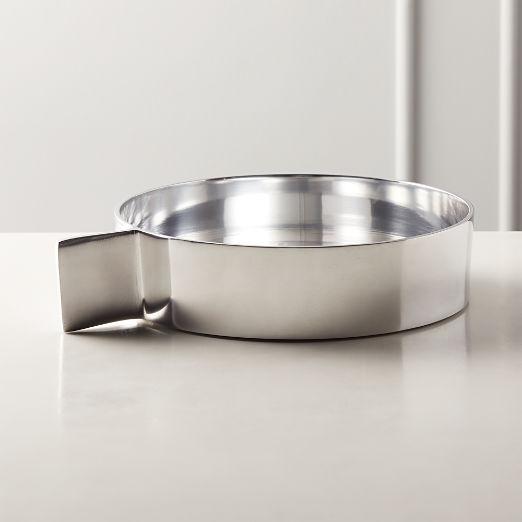Tab Polished Aluminum Serving Bowl