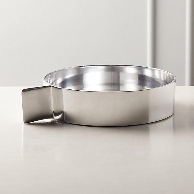 Tab Polished Aluminum Serving Bowl - Image 1 of 3