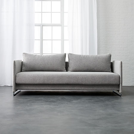 Enjoyable Tandom Microgrid Grey Sleeper Sofa Unemploymentrelief Wooden Chair Designs For Living Room Unemploymentrelieforg