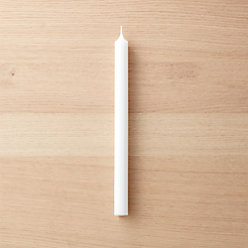 White Taper Candle + Reviews | CB2