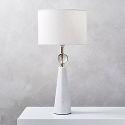 Attrayant Tapered Marble Table Lamp