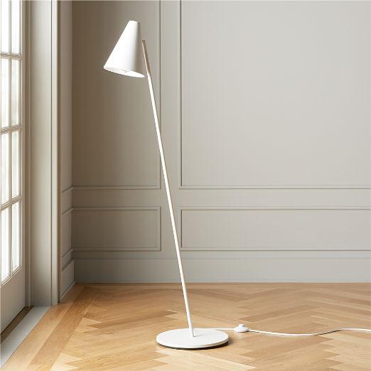 Task Matte White Floor Lamp