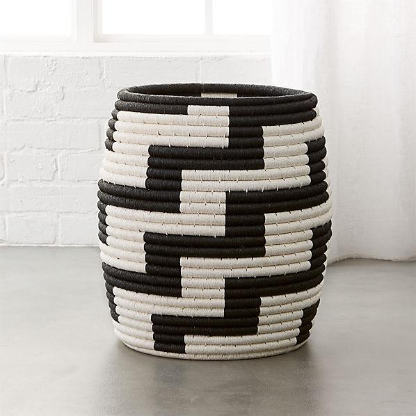 Tatum Black And White Basket
