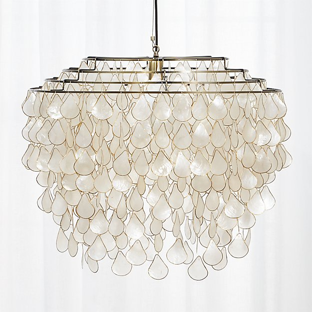 Teardrops capiz chandelier reviews cb2 aloadofball Gallery