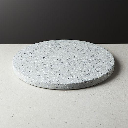 Terrazzo Black Round Serving Platter