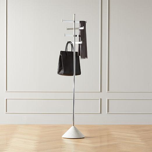 Terrazzo Standing Metal Coat Rack
