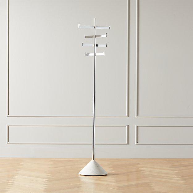 Terrazzo Standing Metal Coat Rack - Image 1 of 6