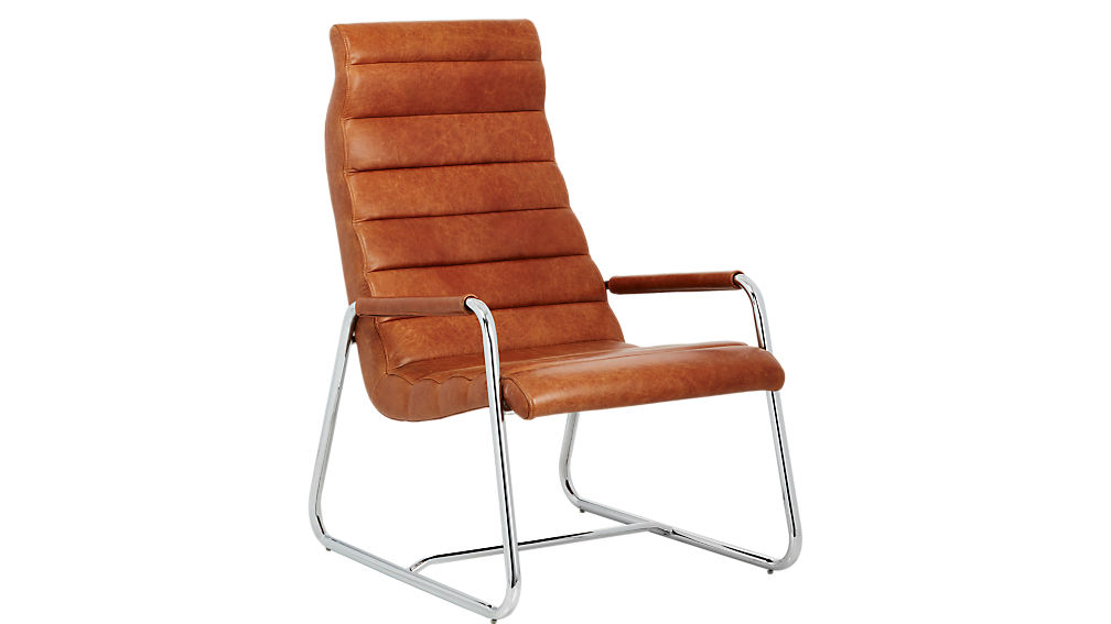Terreno Leather Chair + Reviews | CB2