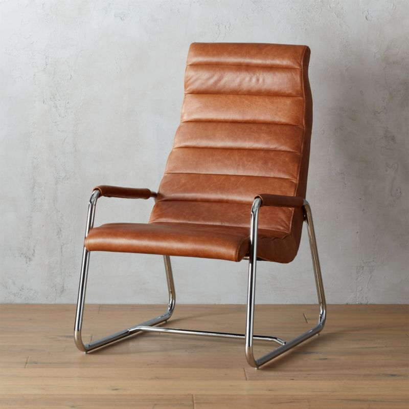Terreno Leather Chair Reviews Cb2