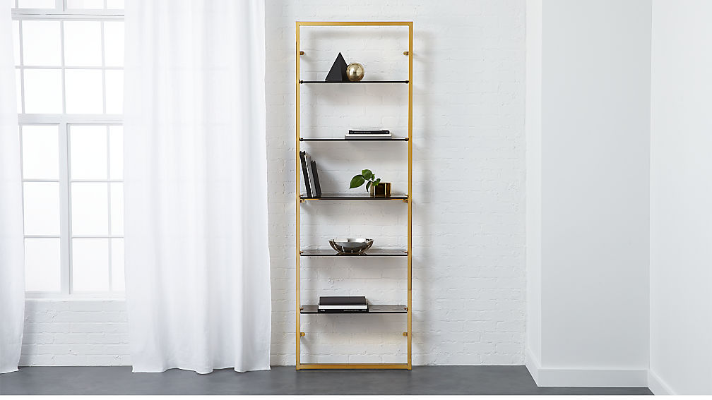 lg bookcase product shaker espresso furniture gelco