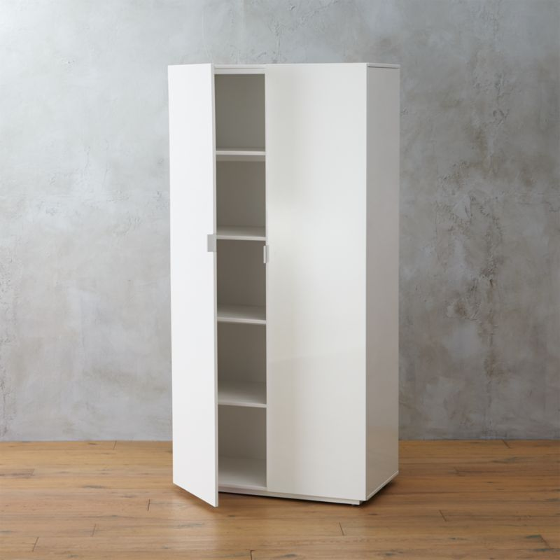 The Wall White Lacquer Wardrobe Reviews Cb2