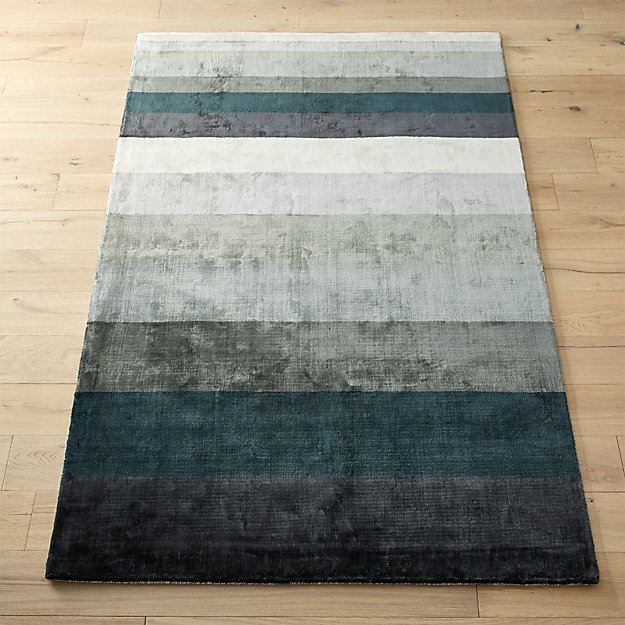 tidal hand loomed blue grey rug cb2. Black Bedroom Furniture Sets. Home Design Ideas