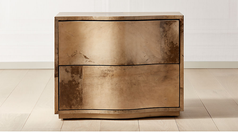 Tide Curved Nightstand Vellum - Image 1 of 8