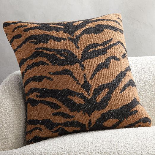 """23"""" Jacquard Tiger Pillow"""