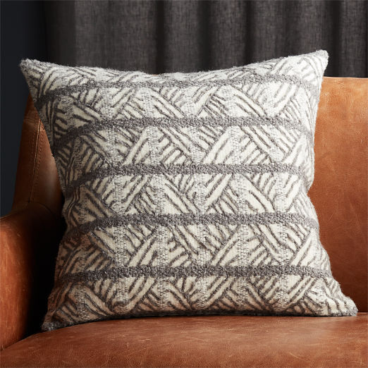 """20"""" Tilda Dark Grey/White Chevron Pillow"""