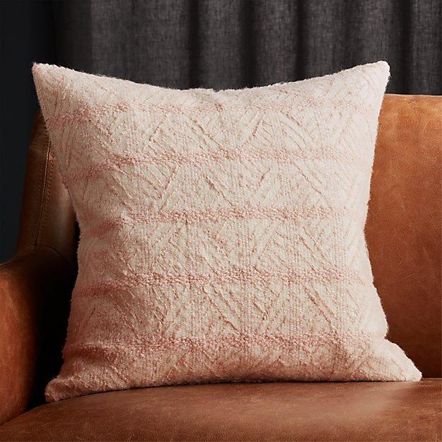 """20"""" Tilda Pink/White Chevron Pillow - Image 1 of 5"""