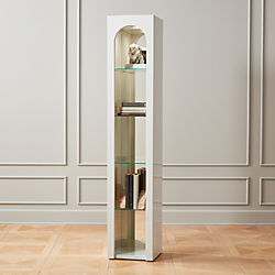 Tosca White High-Gloss Bookcase With Light