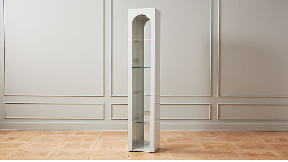 Tosca White High-Gloss Etagere With Light + Reviews