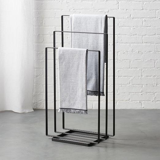 Black Towel Rack