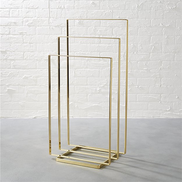 Brass Towel Rack Reviews Cb2