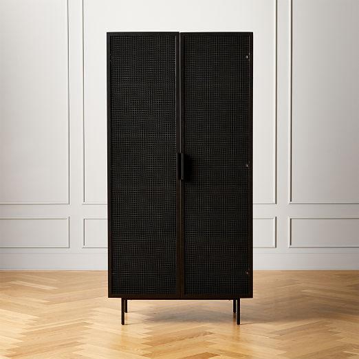 Trace Black Wire Mesh Door Bookcase II