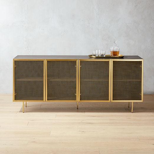 Trace Wire Mesh Cabinet Credenza