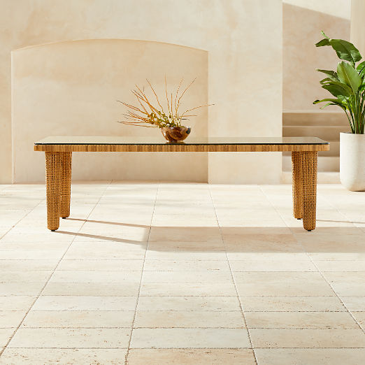 Tretto Faux Rattan Dining Table