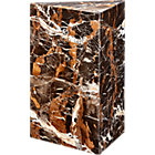 View product image Tri Brown Marble Side Table - image 7 of 8