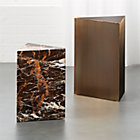 View product image Tri Brown Marble Side Table - image 5 of 8