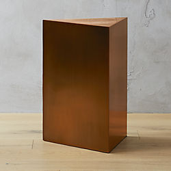Tri Brushed Bronze Side Table