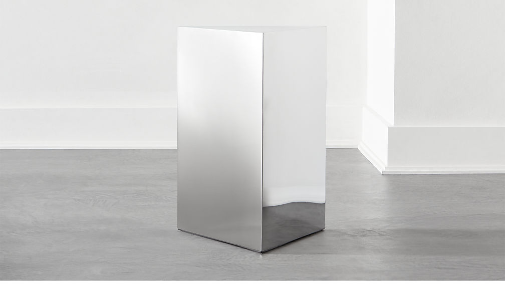 Tri Polished Silver Side Table - Image 1 of 3