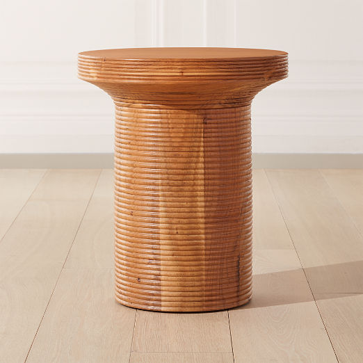 Trill Round Wood Side Table