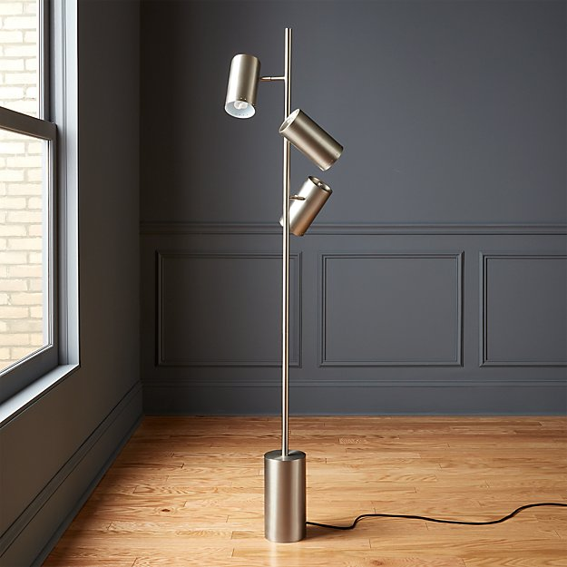 Trio Brushed Nickel Floor Lamp - Image 1 of 6