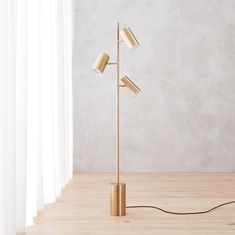 Trio gold floor lamp reviews cb2 aloadofball