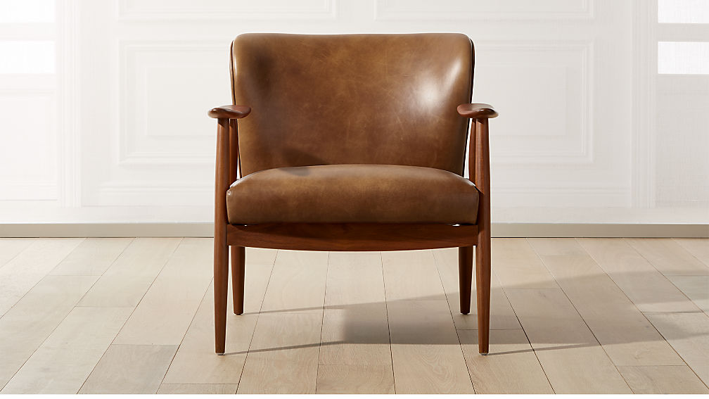 Troubadour Saddle Leather Wood Frame Chair Reviews Cb2