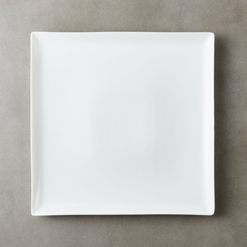 Tuck White Square Dinner Plate Reviews Cb2
