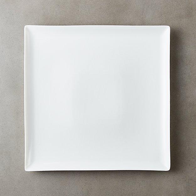 Tuck White Square Dinner Plate - Image 1 of 8