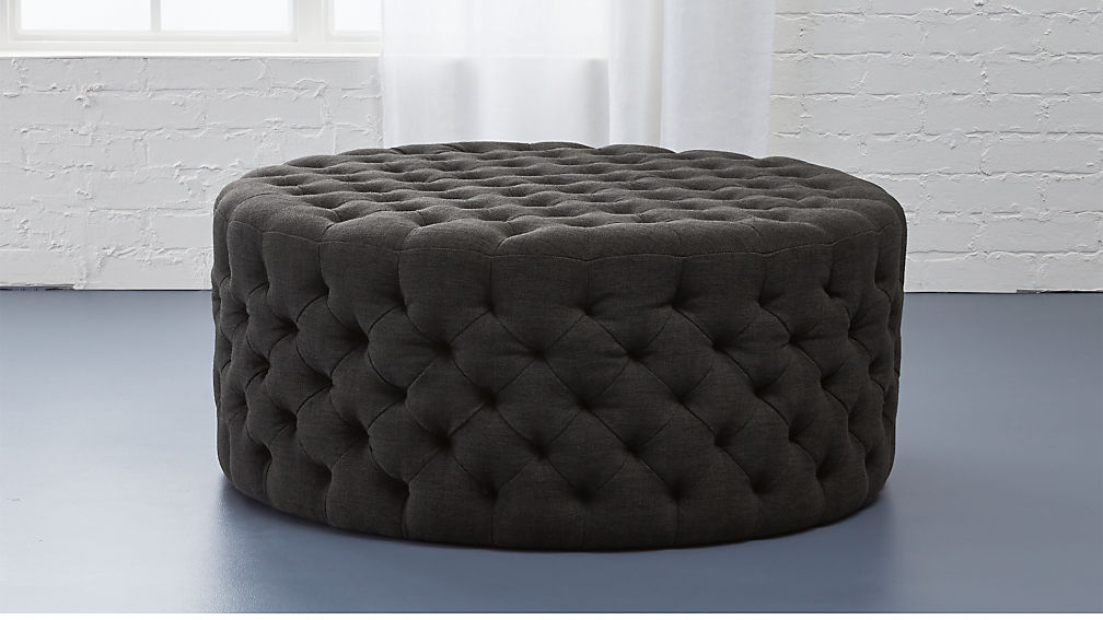 Tufted Ottoman Reviews Cb2