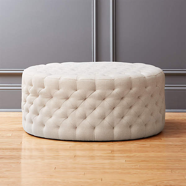 Natural Round Tufted Ottoman Reviews, Round Tufted Ottomans
