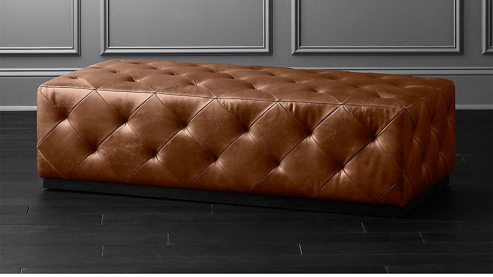 Phenomenal Rectangular Leather Ottoman Theyellowbook Wood Chair Design Ideas Theyellowbookinfo