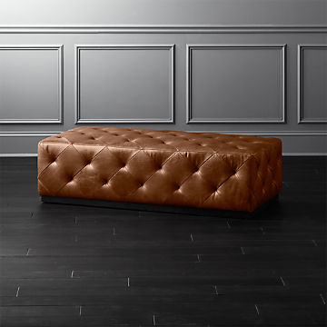 Leather Ottomans Cb2