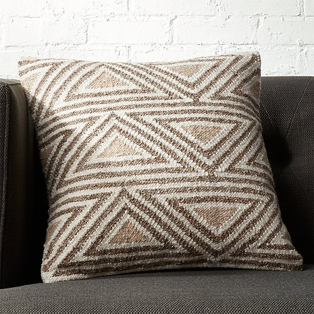 "18"" Tula Triangle Pattern Pillow - Image 1 of 6"