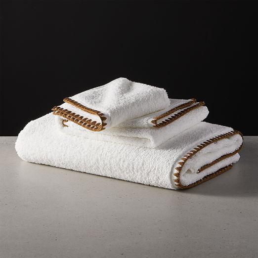 Tuli Copper Trim Bath Towels