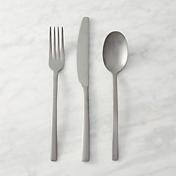 Exceptional 12 Piece Tumble Silver Flatware Set
