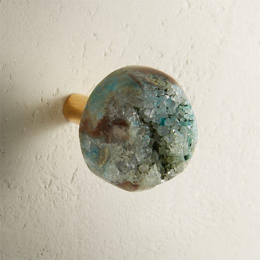 Turquoise Druzy Knob
