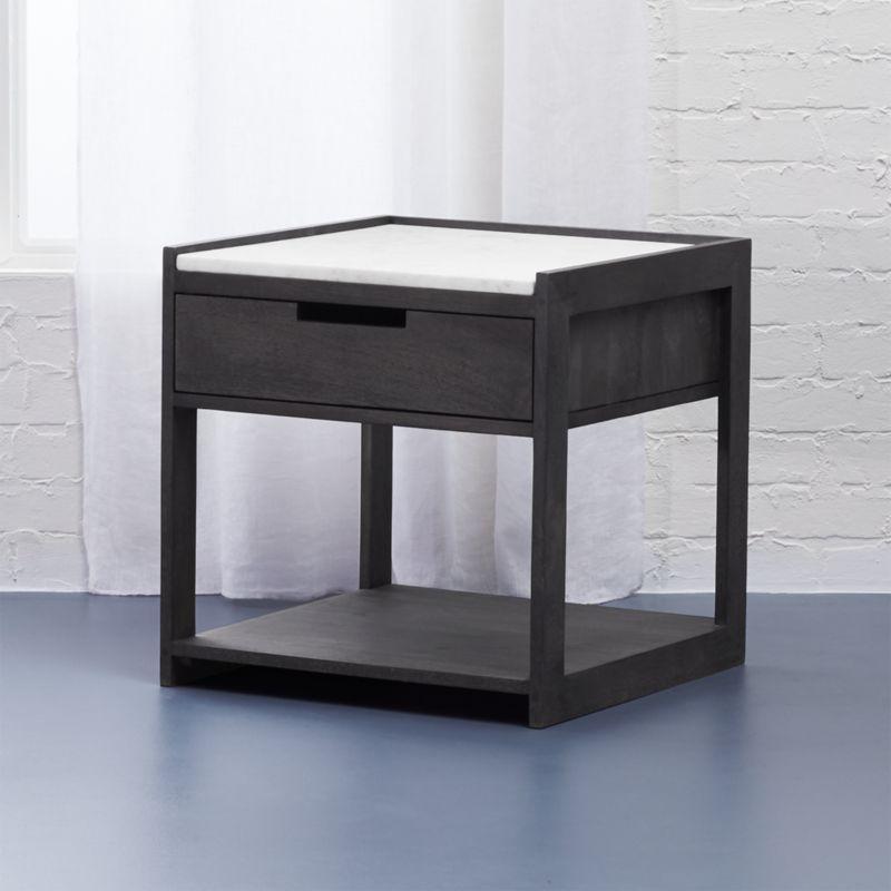 black modern nightstand | cb2 Funky Modern Nightstands