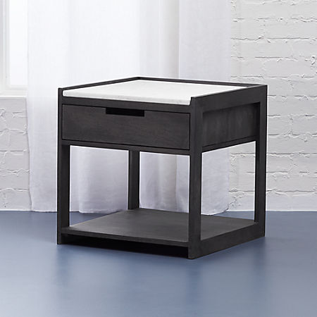 Tux Marble Top Nightstand Reviews Cb2