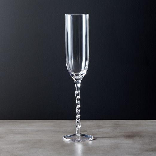 Twist Swirl Champagne Flute