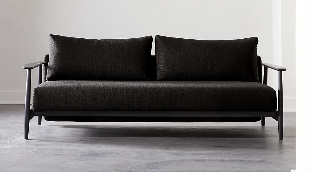 Una Black Sleeper Sofa - Image 1 of 8