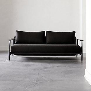 Tandom Dark Grey Sleeper Sofa Reviews Cb2